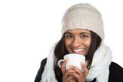 Indische vrouwenkoude Stock Foto's