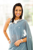Indische vrouwensaree Royalty-vrije Stock Afbeeldingen