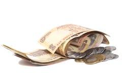 Indische Währungs-Rupien-Banknoten und Münzen Lizenzfreie Stockfotos