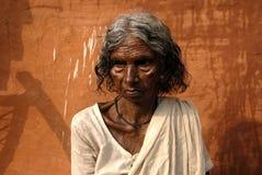 Indische Witwe Stockfotos