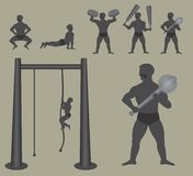 Indische worstelaar stock illustratie