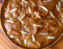 Indische zoet-tarwe of Atte-halwa van Ka stock foto