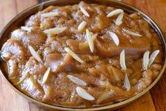 Indische zoet-tarwe of Atte-halwa van Ka - karah parsad royalty-vrije stock fotografie