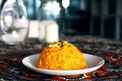 Indische zoete halva die van wortelen wordt gemaakt Stock Foto