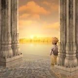 Indische zonsondergang Royalty-vrije Stock Afbeeldingen