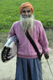 Indischer alter Mann des Punjabi Lizenzfreies Stockbild