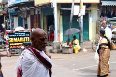 Indischer Brahminmann Stockfotografie