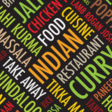 Indischer bunter quadratischer Hintergrund lizenzfreie abbildung