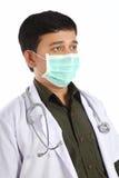 Indischer Doktor in der Schablone Lizenzfreie Stockfotos