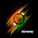 Indischer dreifarbiger Hintergrund für 15. August Happy Independence Day von Indien vektor abbildung