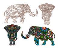 Indischer Elefant des Vektors Lizenzfreie Stockfotografie