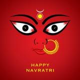 Indischer Göttin durga devi Gesichtshintergrund Stockfotografie