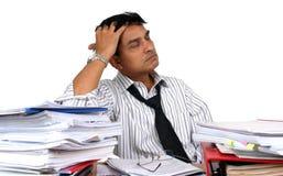 Indischer Geschäftsmann bei der Arbeit. Lizenzfreies Stockbild