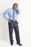 Indischer Geschäftsmann im negativen Gefühl Lizenzfreies Stockbild