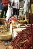 Indischer Gewürz- und Lebensmittelmarkt Stockfotos