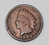 Indischer Hauptpenny 1902 Vereinigter Staaten Stockbilder