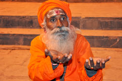 Indischer heiliger Mann Lizenzfreie Stockfotos