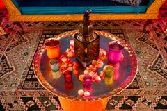 Indischer Hochzeits-Dekor Stockfotografie