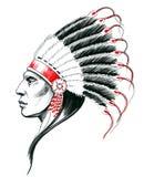Indischer Kopf stock abbildung