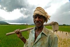 Indischer Landwirt lizenzfreies stockbild