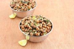 Indischer Lebensmittel-Brown-Kichererbsen-Curry Lizenzfreie Stockfotos