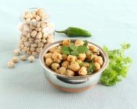 Indischer Lebensmittel-Kichererbsen-Curry in einer Schüssel Lizenzfreies Stockbild