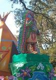 Indischer Leiter auf Mardi Gras Float lizenzfreie stockfotos