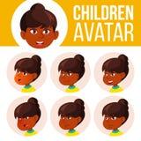 Indischer Mädchen-Avatara-Satz-Kindervektor Der Lehrer erlernt den Jungen, um zu lesen hinduistisch Asiatisch Stellen Sie Gefühle lizenzfreie abbildung