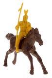Indischer Mann auf Pferdenspielzeug Lizenzfreie Stockfotos
