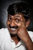 Indischer Mann mit dem Schnurrbart stockfotografie