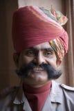 Indischer Mann in Rajasthan Lizenzfreie Stockfotografie