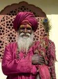 Indischer Mann in Rajasthan Stockbild