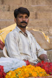 Indischer Mann in Rajasthan Lizenzfreies Stockbild