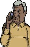 Indischer Mann am Telefon Stockbild