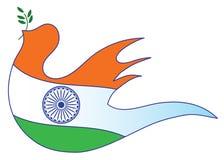 Indischer Markierungsfahnenauszug Stockfoto