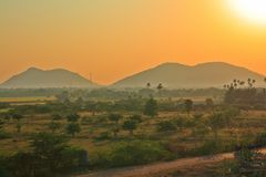 Indischer Nachmittag Sun Stockbilder
