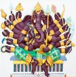 Indischer oder hinduistischer Gott Stockfotos