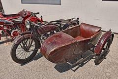 Indischer Pfadfinder Side 600 cm mit Beiwagen 1923 Lizenzfreies Stockfoto