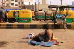 Indischer rikhsa Fahrer Stockbilder