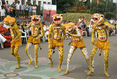 Indischer Stammes- Tanz Stockfotografie