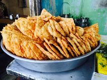 Indischer Straßen-Snack Stockbilder