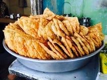 Indischer Straßen-Snack Lizenzfreie Stockfotos