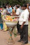 Indischer Straßennahrungsmittelverkäufer Stockfotos
