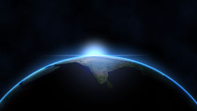 Indischer Subkontinent - Indien vom Raum Lizenzfreies Stockfoto