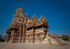 Indischer Tempel bei Khajuraho Stockbilder