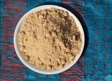 Indischer traditioneller gebratener Weizenmehl Bonbon oder Panjiri Stockfotos