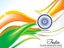 Indischer Unabhängigkeitstagwellen-Zusammenfassungshintergrund Stockbilder