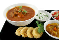 Indischer Vindaloo Rindfleisch-Curry Lizenzfreies Stockbild
