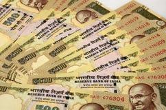Indisches Bargeld stockfoto