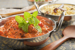 Indisches Curry-Huhn Tikka Masala Stockfoto